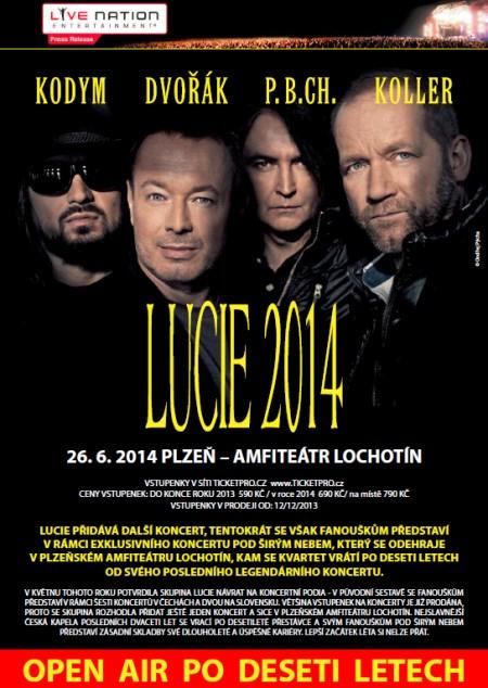 Ostraha koncertu skupiny LUCIE v Plzni